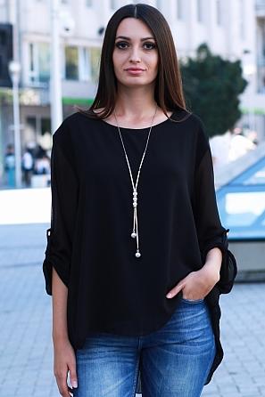 Дамска блуза солей на гърба и дълги ръкави 9137