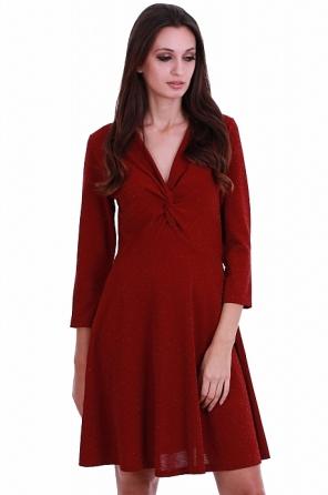 Елегантна разкроена дамска рокля от ламе 8219