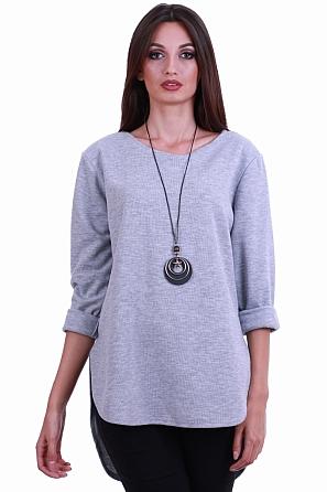 Изчистена дамска блуза с подарък аксесоар 8170