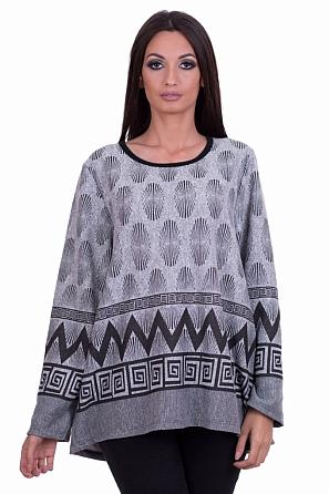 Стилна дамска блуза с красив принт 8134