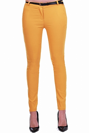 Еластичен дамски панталон с подарък колан 8301