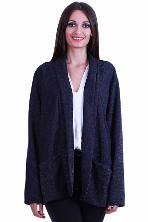Елегантна дамска жилетка с плат ламе 8545