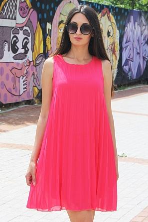 Стилна едноцветна дамска рокля солей 8770
