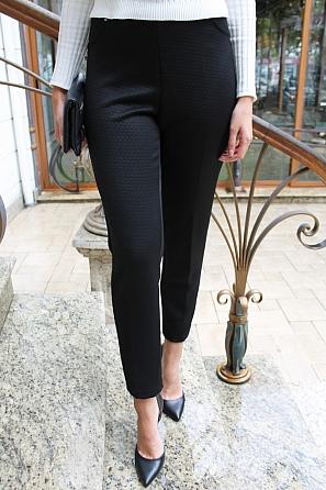 Едноцветен дамски панталон на фигури 8830