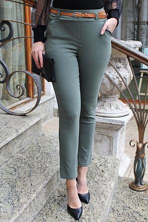 Стилен дамски панталон на ситни фигури 9003