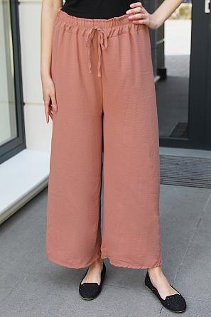 Едноцветен изчистен дамски панталон 9017