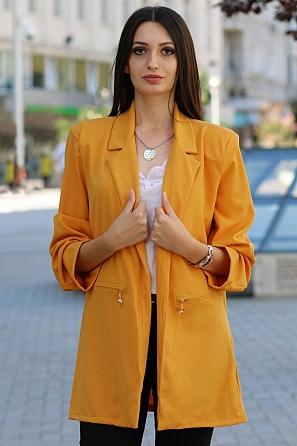 Свободно едноцветно дамско сако 9183