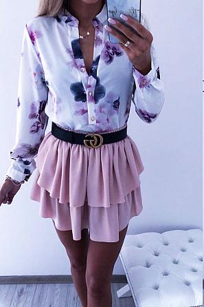 Красива дамска риза с флорални мотиви 8320