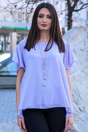 Дамска блуза солей на гърба и къси ръкави 9047