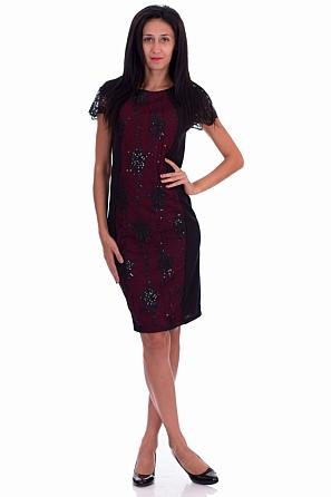 Елегантна дамска рокля с пайети
