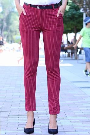 Елегантен дамски панталон на райета 8505