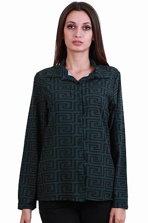 Стилна дамска риза с геометрични мотиви 8215