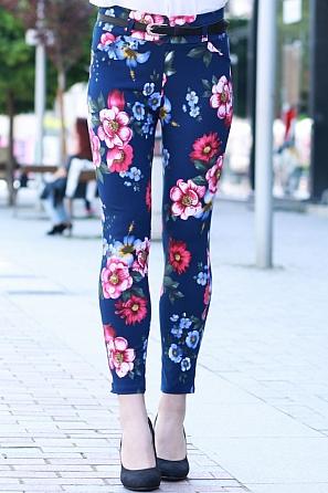 Цветен елегантен дамски панталон 8405