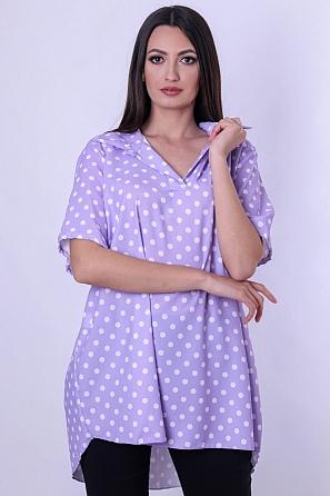 Дамска блуза тип риза на големи точки 9043