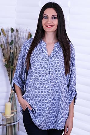 Памучна дамска блуза с красива щампа 8733