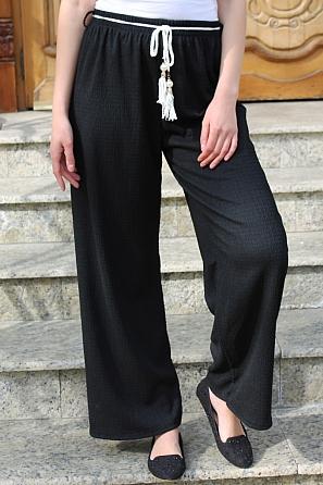 Свободен дамски едноцветен панталон 9016