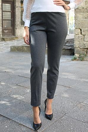 Едноцветен зимен дамски панталон 8825