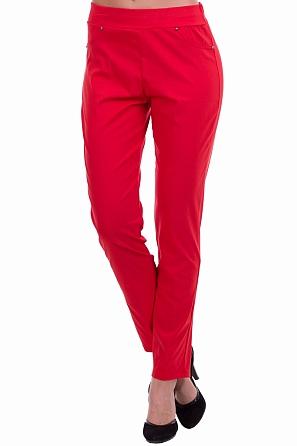 Еластичен едноцветен панталон с ластик 8746