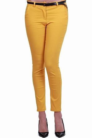 Дамски едноцветен панталон с италиански джобове 8330