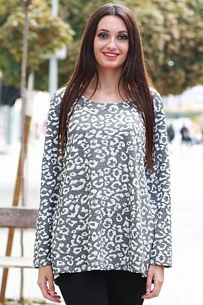 Интересна дамска блуза с леопардова шарка 8573