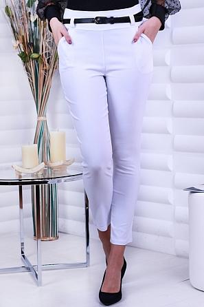 Елегантен еластичен  дамски панталон с колан 8701