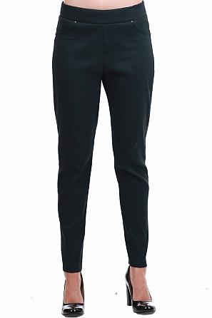 Стилен еластичен дамски панталон на ромбове 8556