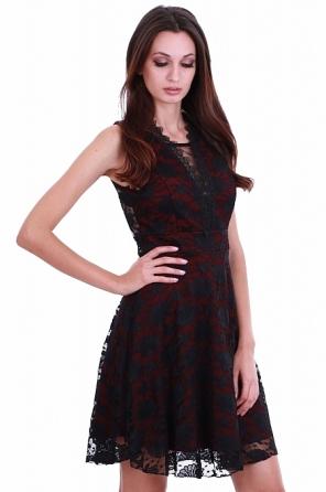 Елегантна дамска рокля с дантелен гръб 8217