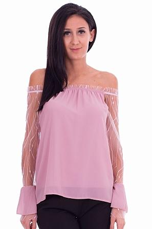 Ефектна дамска блуза 7730