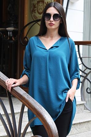 Стилна дамска блуза/туника с издължена задна част 8802