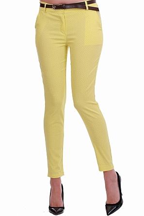 Дамски пролетен панталон на точки 8302