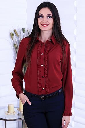 Елегантна дамска риза с жабо 8744