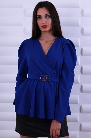 Стилна дамска блуза с катарама на талията 8616