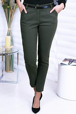 Еластичен дамски панталон на фигури звезди 8740