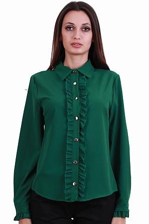 Елегантна дамска риза с волани 8230