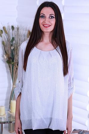Дамска стилна блуза на точки 8716