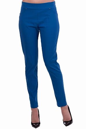 Еластичен едноцветен панталон с ластик 8350