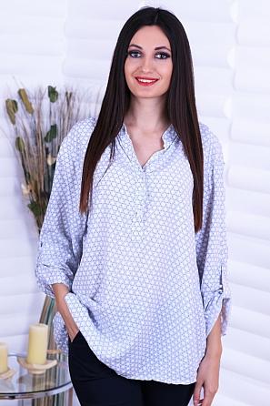 Памучна дамска блуза с интересна щампа 8732