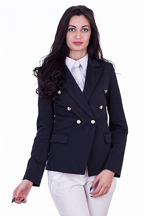 Елегантно дамско сако с копчета