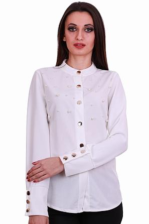 Елегантна дамска риза с перли 8322
