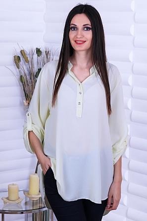 Ежедневна дамска блуза с издължена задна част 8723