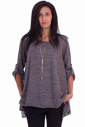 Ежедневна дамска блуза с аксесоар