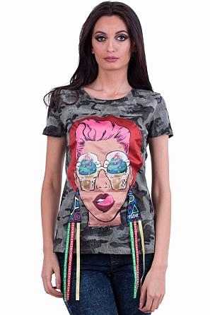 Дамска блуза с модерна щампа 7887
