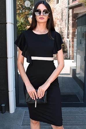 Елегантна дамска рокля с ефектни ръкави 9167