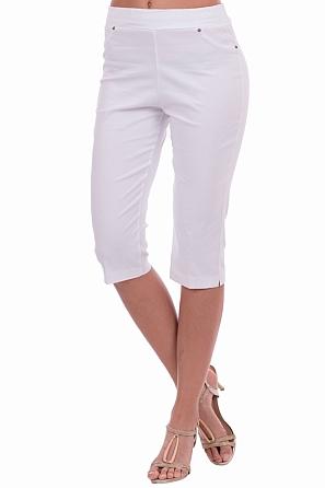 Еластичен едноцветен 3/4 панталон 8403