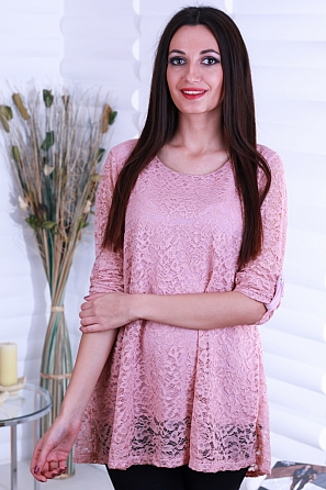 Елегантна дантелена блуза/туника 8717