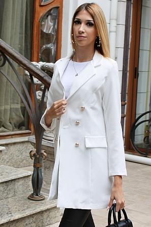 Двуредно издължено дамско сако с хастар 9185