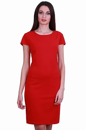Стилна изчистена едноцветна дамска рокля 8524