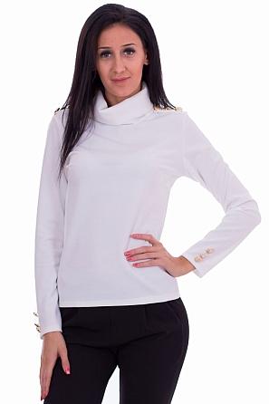 Стилна дамска блуза с поло яка 7736