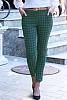 Елегантен дамски панталон на цветни карета