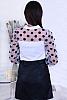 Красива дамска блуза с панделка и големи точки